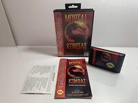 Mortal Kombat Sega Genesis Original Authentic Complete CIB w/ Registration Card
