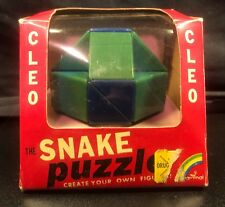 Vintage Cleo The Snake Puzzle with Box