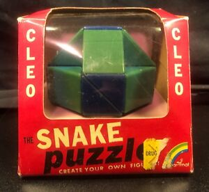 Vintage Cleo The Snake Puzzle with Box N1