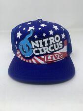 NITRO CIRCUS LIVE - Mesh Snapback FOAM TRUCKER FLAT BILL Cap Hat 004