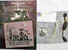 Stoney Creek ~ Graveyard Halloween ~ Cross Stitch Kit w/Hd fabric & Threads