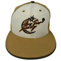 Washington Wizards New Era Wool Fitted 7 3/8 Hat 59FIFTY Cap NBA Gold USA Made