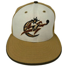 Washington Wizards New Era 59FIFTY Wool USA Made Hat Cap Fitted 7 3/8 NBA Gold