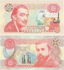 Spain - Catalonia Catalunya 5000 Pessetes 2016 SPECIMEN Test Banknote Gaudi Dali