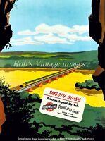 Chicago Northwestern CNW Railroad 400 EMD passenger train Advertising Poster