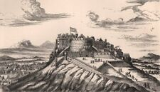 EDINBURGH CASTLE. View in 1715, from the North-East. Scotland 1885 old print