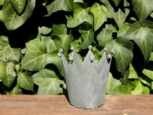 KRONE Dekokrone Gartendeko Pflanzkrone Metall-Krone Garten Beleuchtung Frühling