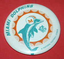 MIAMI DOLPHINS National Football League NFL Vintage Button Pin a9