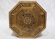 Schmuckkasten Holzschatulle  mit Perlmutt  Kunsthandwerk Damaskunst K 2-4-81