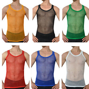 Mens Vest 100% Cotton String Slim Fit Gym Army S-3XL Sizes Available!