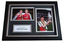 David O'Leary Signed A4 FRAMED photo Autograph display Arsenal Football & COA