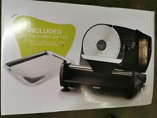 Elektrischer Allesschneider Edelstahl - Verstellbare Küchenmaschine 0 bis 15mm -