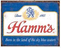 "Hamm's Beer Metal Tin Sign 16"" X 12.5"" Bar Shop Garage Decor New"