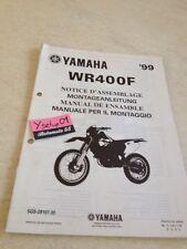Yamaha WR400F 1999 WRF 400 WR400 F WR 400 setup manuel assemblage préparation