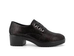 ENVAL SOFT 6250200 Zapatos de Salón Escocés Talón Mujer Negro