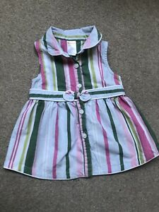 Gymboree Beautiful Girl Striped Blouse 💚💙💗 Size 18-24 Months