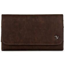 Brown Horizontal Belt Clip Holster Leather Pouch Case for Samsung Galaxy S5