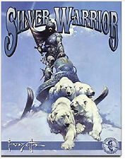 "Frank FRAZETTA Classic Fantasy Art SILVER WARRIOR Quality Metal Sign Poster, 16"""