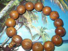 Bracelet de prière Tibétain Mala en bois de Exotique-perle diamètre 15 mm