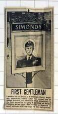 1952 Authority To Hang Painting Of Prince Philip As An Inn Sign Simonds Reading
