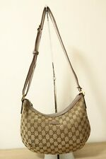 Authentic Gucci Canvas Brown Tote hobo Bag #6623