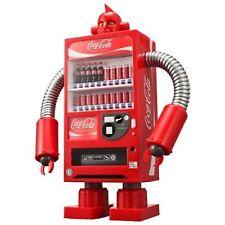 Coca Cola Coke Vending Machine Robot Red Piggy bank Figure 1/8 limited box USED