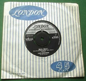 """Louis Armstrong Hello Dolly / A Lot Of Livin' To Do HL-R.9878 7"""" Single"""