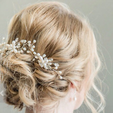 Fashion Bridal Rose Pearl Flower Hair Pin Stick Wedding Prom Hair Accessories