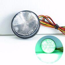 Clear Lens Green LED Round Reflector for Fog Light Tail Brake Light Turn Signal