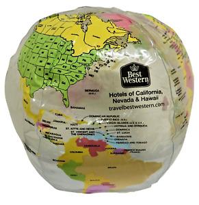 "Best Western Inflatable World Globe Map Beach Ball (13"") Clear F6389"