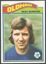 TOPPS 1978 FOOTBALLERS #172-OLDHAM ATHLETIC-MIKE BERNARD