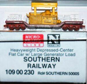 Southern 50005 Flat Car w/  Load MicroTrains 10900230 N Scale JA19.10
