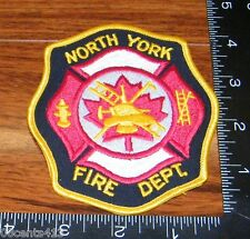 North York Fire Department Ontario Canada Cloth Patch Only