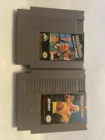 WWF Wrestlemania & Wrestlemania Challenge Game Lot Nintendo Nes Tested Authentic
