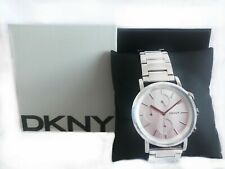 Ladies DKNY Designer Watch NY2273 SoHo Chronograph Round Silver Steel Genuine