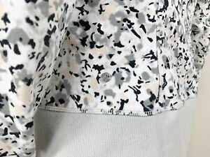 LULULEMON After Asana Jacket Hoodie Not So Petite Fleur Silver Spoon Size 6 NTSF