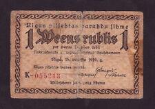 Latvia 1 Ruble  1919 Riga , Fair