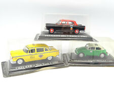 Altaya Ixo 1/43 - Lot de 3 Taxi : Checker + VW Coccinelle + Peugeot 404