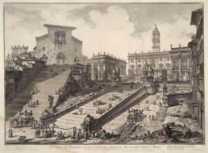 Giovanni Battista Piranesi View of the Capitoline Hill Giclee Canvas Print