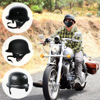 DOT Motorcycle German Half Face Helmet For Cruiser Chopper Biker Scooter M/L/XL
