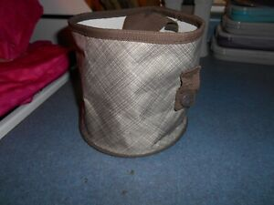 Thirty One Oh Snap Bin Storage Taupe Cross Pop