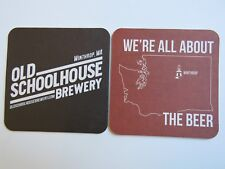 Beer Coaster ~ OLD SCHOOLHOUSE Brewery ~ Winthrop, WASHINGTON ~ All About Beers!