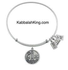 Wind & Fire Cape Cod Charm Silver Expandable Bangle Bracelet Made In USA