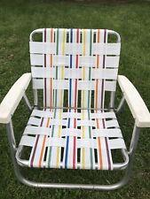 Vintage Aluminum Child Toddler Folding Lawn Chair Lightweight Beach Yard Patio