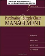 Purchasing and Supply Chain Management by Robert M Monczka(Int' Ed Paperback)5Ed