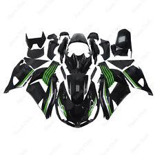 New ABS Green Black Fairing Bodywork Injection Kits For 2006-2009 Kawasaki ZX14R