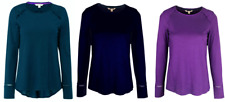 White Stuff Long Sleeve Tunic Top in Navy Teal and Purple 8 -18 (X3.3)