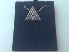 S5   Snooker Triangle on a 925 sterling silver Necklace Handmade 18 inch chain