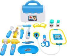 Kinder Arztkoffer Doktor Spielset medizinisches Spielzeug Arztrucksack, 16 Teile