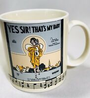"""Coffee Mug Irving Berlin Music Publishers """"Yes Sir! Thats My Baby"""" Sydney Leff"""